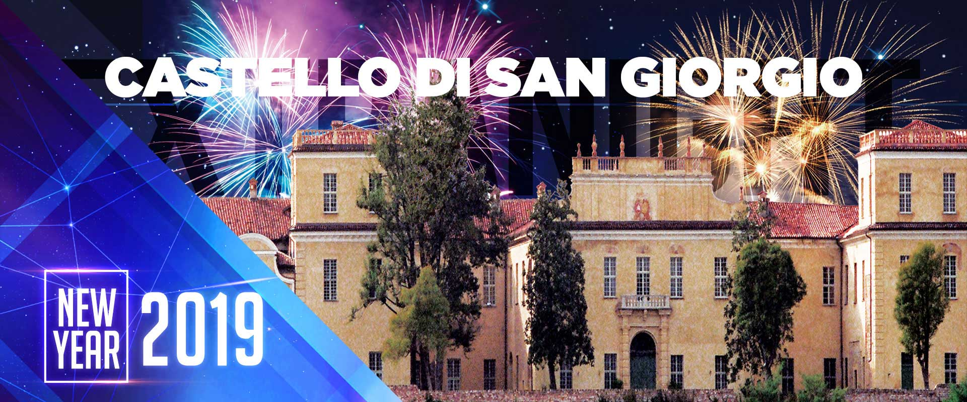 Locandina capodanno 2019 al castello di san giorgio