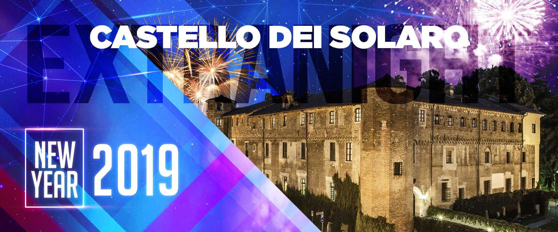 Locandina capodanno 2019 al castello dei solaro