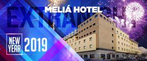 Locandina capodanno 2019 al melia hotel di milano